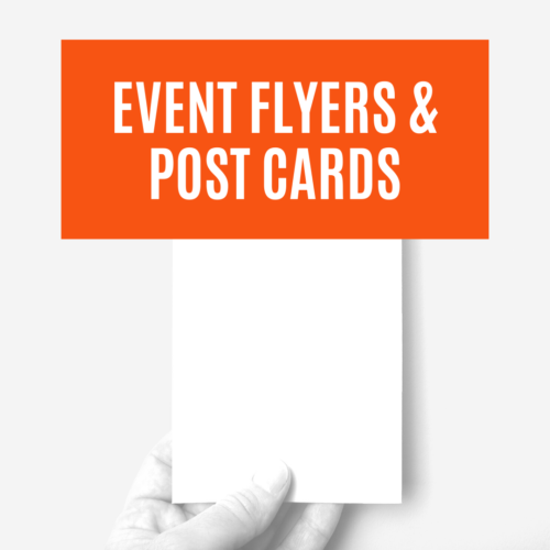 EVENT FLYERS & POST CARD 3 PACK